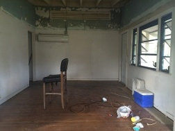 Demoed front entrance room