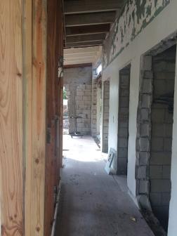 Demoed hallway
