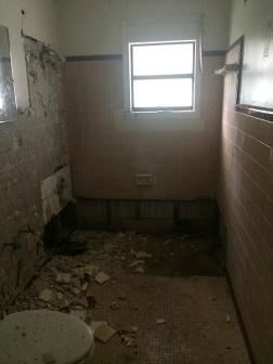 Demoed bathroom