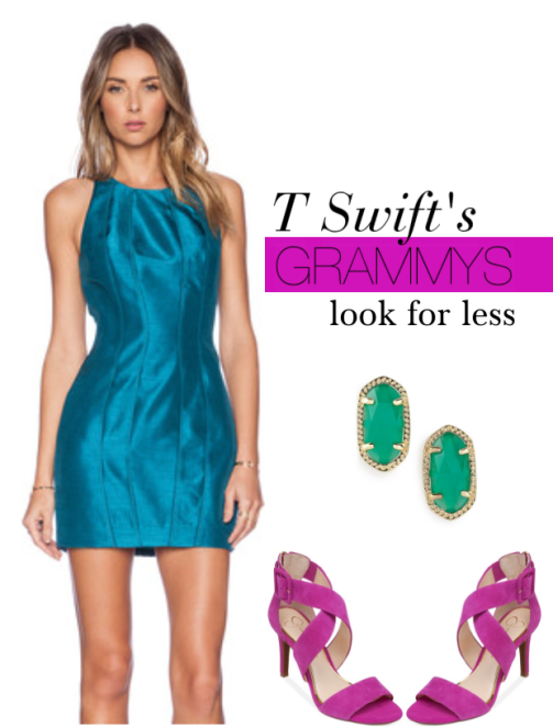 taylor swift 2015 grammys look for less