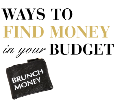 how to find money in your budget thebudgetista